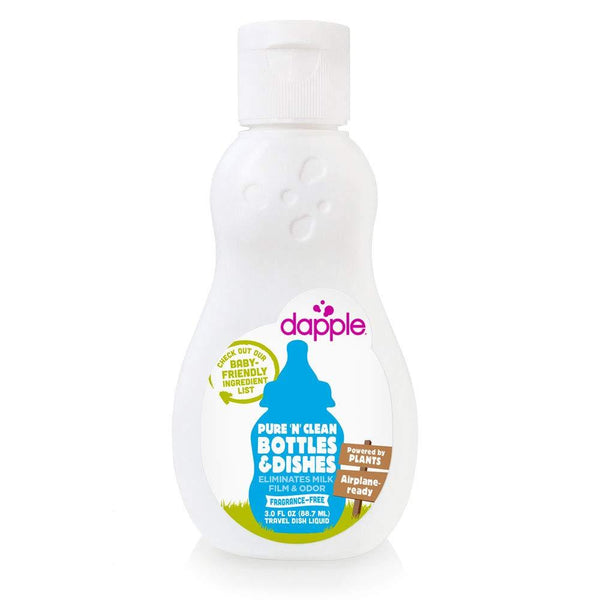 Dapple Baby Bottle & Dish Liquid Fragrance-Free Travel Size 3 oz
