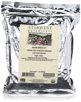 Starwest Botanicals Organic Red Henna Leaf Powder l 1b