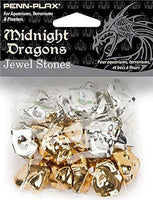 Penn Plax Midnight Dragons Jewel Stones Acrylic Decoration 16 Pc