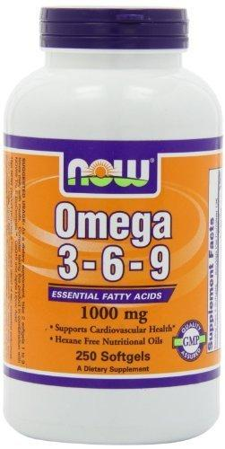 NOW: Omega 3-6-9 1000mg, 250 Softgels