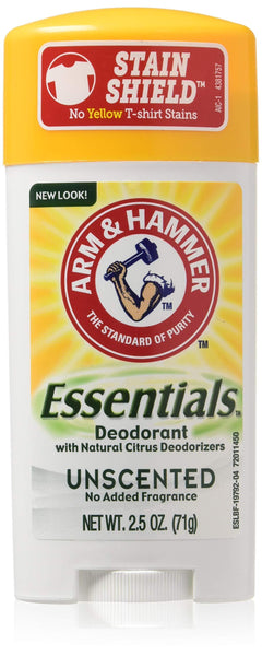3 Pack - Arm & Hammer Essentials Natural Deodorant Unscented 2.5oz