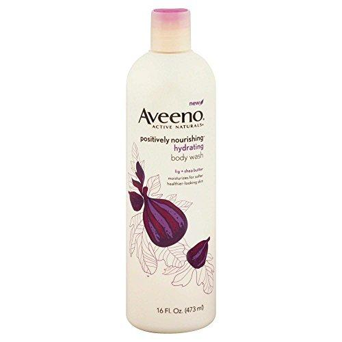 2 Pack - Aveeno Positively Nourishing 16 oz. Body Wash Fig & Shea Butter