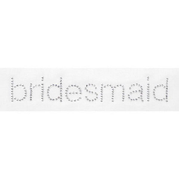 2 Pack - Victoria Lynn(tm) Rhinestone Iron On - Bridesmaid - 6.5in. x 1.25in.