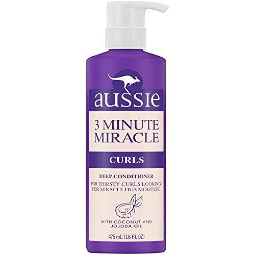 3 Pack - Aussie 3 Minute Miracle Curls Conditioner 16 Ounce Pump (475ml)