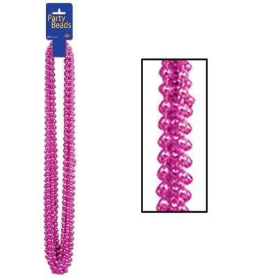 Cerise Party Beads Set of 12