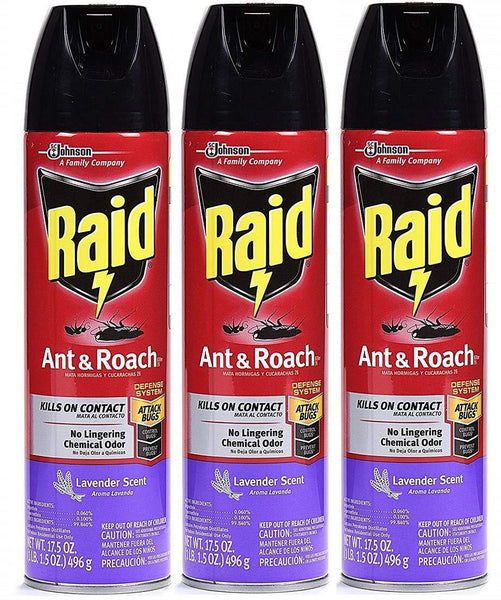 Raid Ant & Roach Killer Insecticide Spray, 17.5 oz