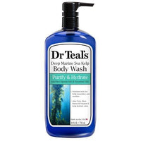 Dr. Teal's Deep Marine Sea Kelp Body Wash, Purify & Hydrate- 24 oz