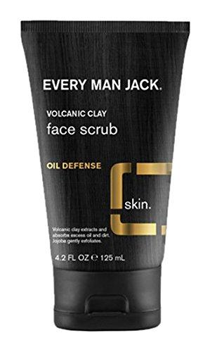 2 Pack - Every Man Jack Volcanic Clay Face Scrub Oil Defense Fragr Free 4.2oz