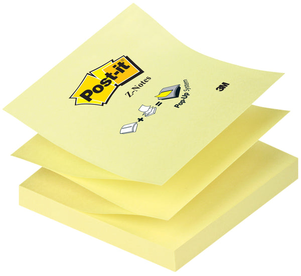3M Post-it 3 x 3 Pop-up Notes Canary Yellow, 12/pk