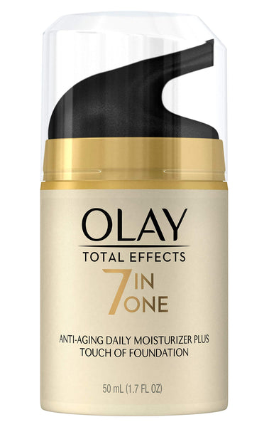 Olay Total Effects Daily Moisturizer + Touch of Foundation, 50 mL