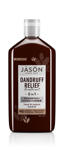 2 Pack - JASON Dandruff Relief 2-in-1 Treatment Shampoo and Conditioner 12oz