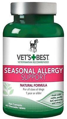 2 Pack - Vet's Best Seasonal Allergy Support Chewable Tablets 60ct