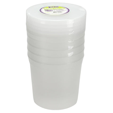 Extra Strong Quality Plastic Deli Container with Lids 80OZ 5CT
