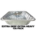 Disposable Aluminum 1/2 SIZE EXTRA DEEP EXTRA HEAVY FOIL PAN 12 3/4
