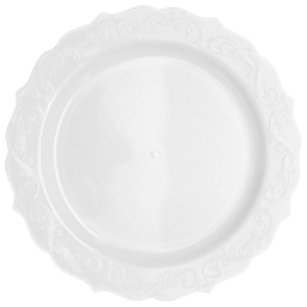 Elegant Collections Dinner Plate White 10.25