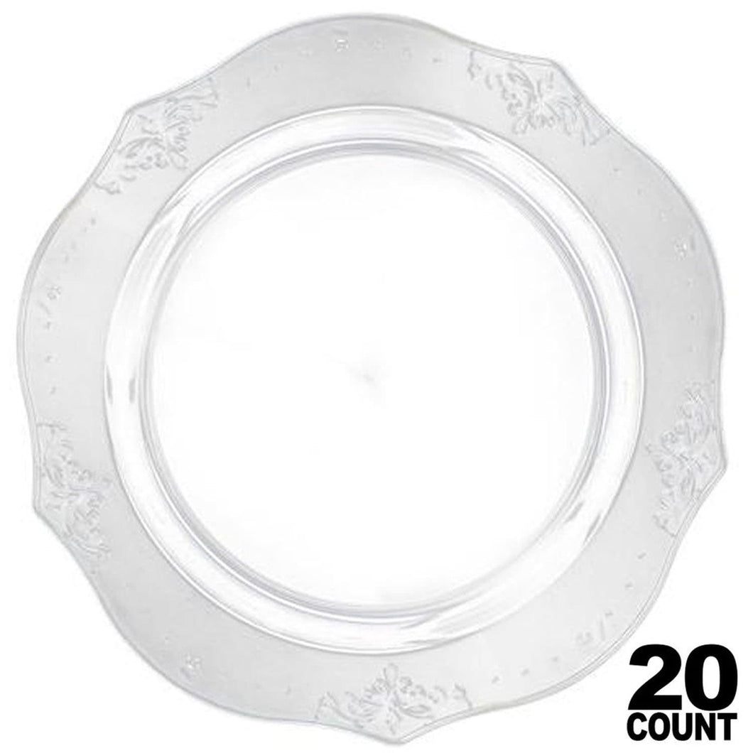 Antique Collection Dinner Plates Clear 10