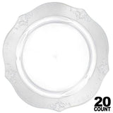 "Antique Collection Dinner Plates Clear 10"" 20Ct - OnlyOneStopShop"