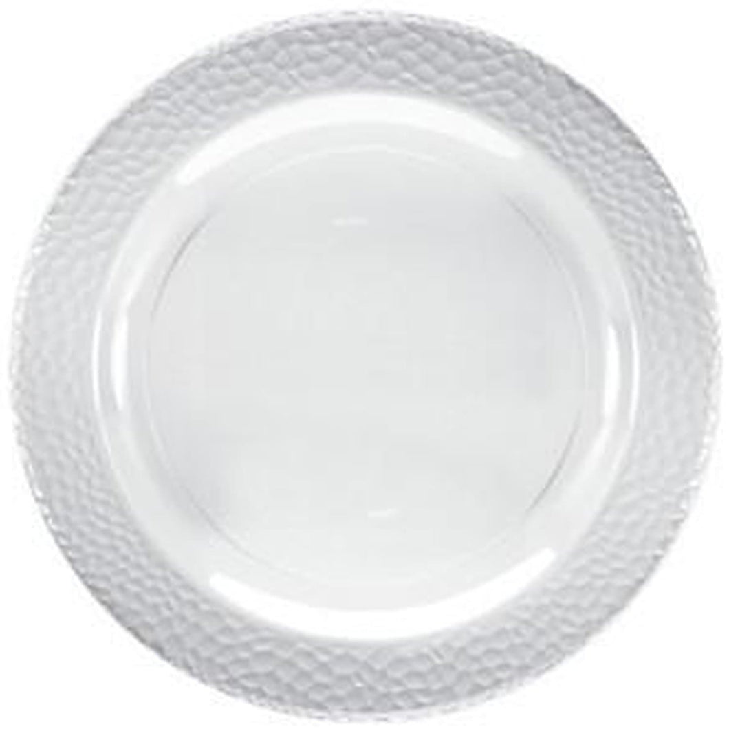 Lillian Tablesettings Pebbled Plastic Plate Clear 10.25