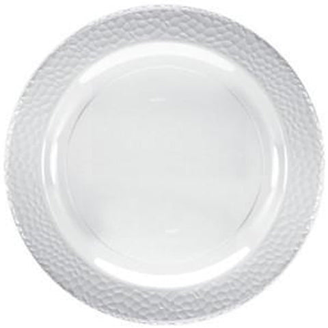"Lillian Tablesettings Pebbled Plastic Plate Clear 10.25"" 10 Ct"
