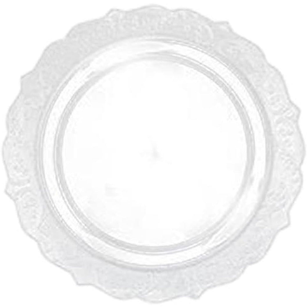 Elegant Collections Dinner Plate Clear 10.25