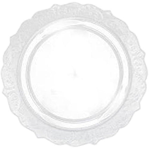 "Elegant Collections Dinner Plate Clear 10.25"" 10Ct"