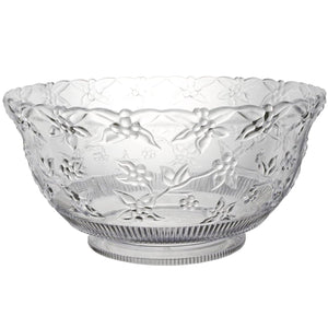 12 Quart Clear Super Large Extra Heavy Punch Bowl Hanna K