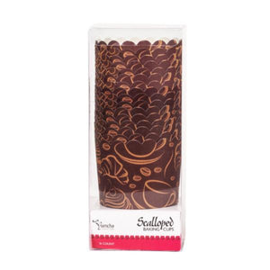Simcha Collection Coffee Large Baking Cups 16Ct