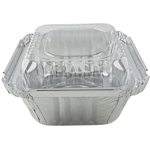 "Disposable Aluminum 1Lb Oblong Foil Pan 5 x 4"" 10PK"