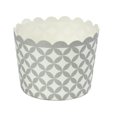 Simcha Collection Scalloped White Silver Baking Cup 20Ct