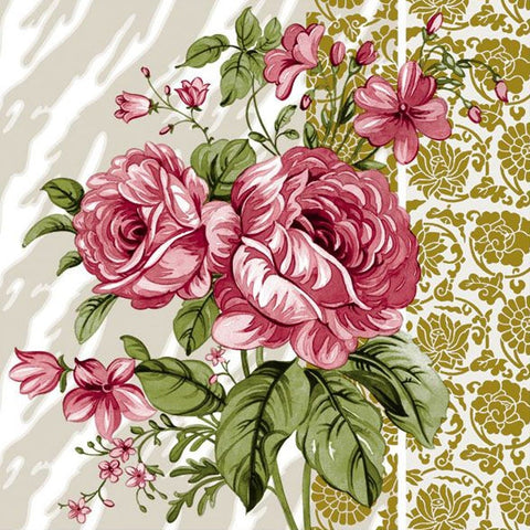 Vintage Rose Disposable Lunch Paper Napkins 20ct