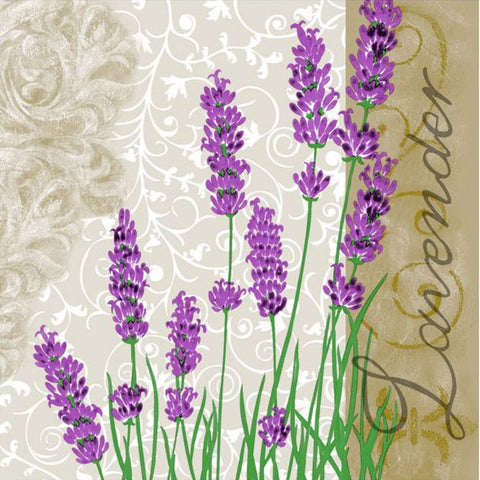 Lavender Disposable Lunch Paper Napkins 20ct
