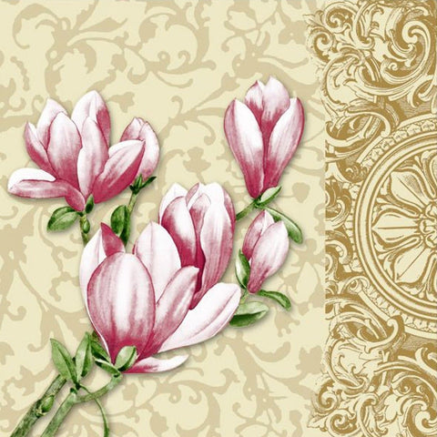 Timeless Tulip 2 Disposable Lunch Paper Napkins 20ct