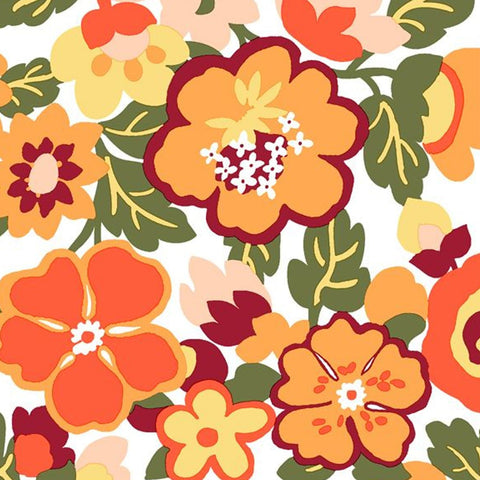 Scattered Blossoms Disposable Lunch Paper Napkins 20ct