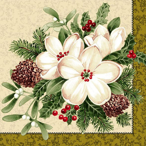 Flowers #36 Lunch Napkins 20ct