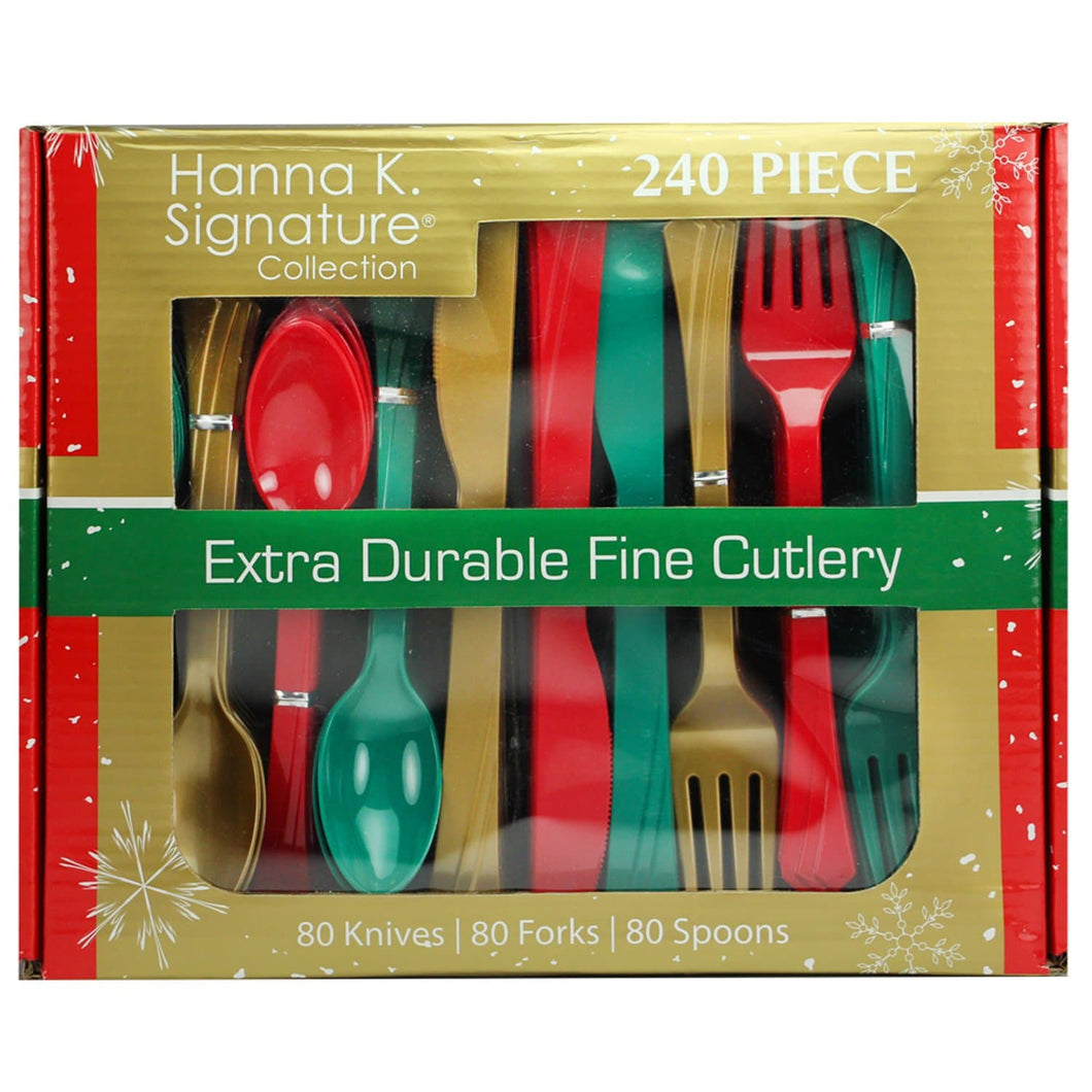 Extra Durable Combo Multi Color Plastic Cutlery 240CT