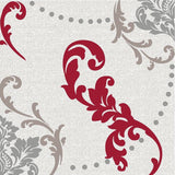 Wine Fleur-de-lis Disposable Lunch Paper Napkins