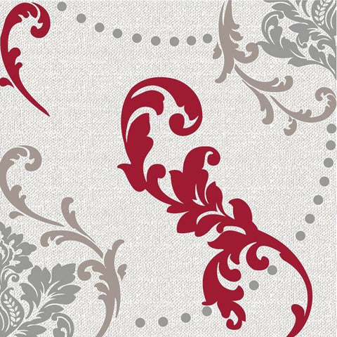 Wine Fleur-de-lis Lunch Napkins 20ct