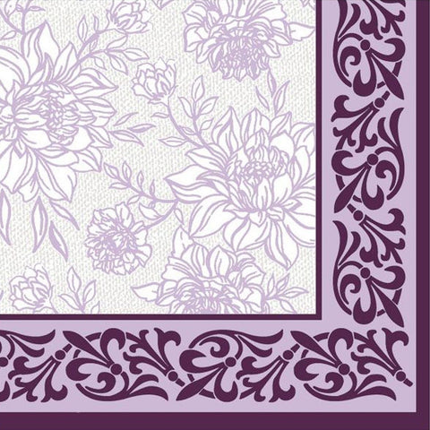Purple Petal Pride Disposable Lunch Paper Napkins 20ct