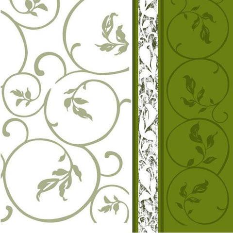 Olive Curlicue Disposable Lunch Paper Napkins 20ct