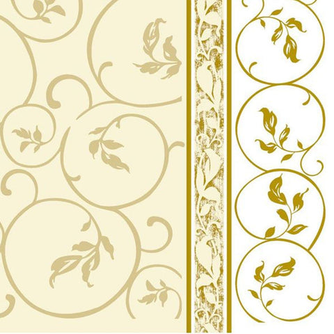 Golden Curlicue 1 Disposable Lunch Paper Napkins 20ct