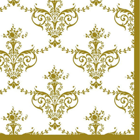 Royal Fleur-de-lis Disposable Lunch Paper Napkins 20ct
