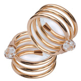 Spiral Gold Plated Napkin Rings Set of 4