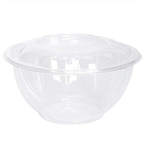 32 oz Salad To-Go Containers - Clear Plastic Disposable Salad Containers/Bowls with Airtight Lids
