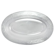 Pebbled Clear Plastic Oval Serving Bowl 32 oz 3Ct
