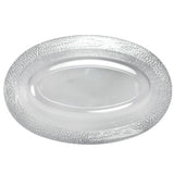 Lillian Tablesetting Pebbled Plastic Oval Serving Bowl Clear 15 oz