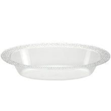 Pebbled Clear Plastic Oval Serving Bowl 48 oz 2Ct