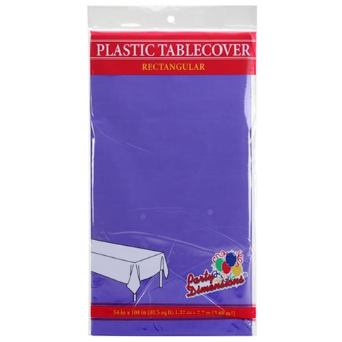 Tablecover Plastic Purple Rectangular  54'' X 108''