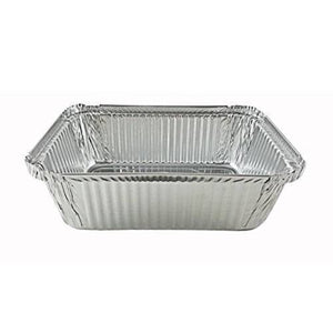 "Disposable Aluminum 5Lb Oblong Foil Pan 9¾"" x 7¼"" 10PK"
