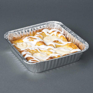 "Disposable Aluminum 9"" Square Deep Cake Foil Pan 10PK"