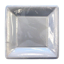 Solid Silver Square Paper Plates 7""